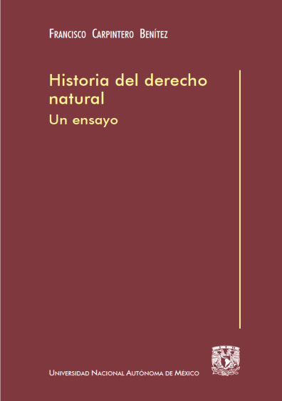 Historia del derecho natural. Un ensayo