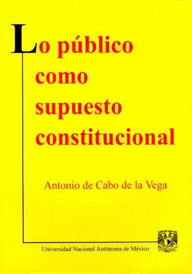 Lo público como supuesto constitucional