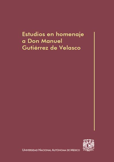 Estudios en homenaje a Don Manuel Gutiérrez de Velasco