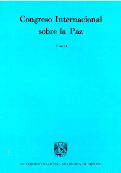Congreso Internacional sobre la Paz, t. II