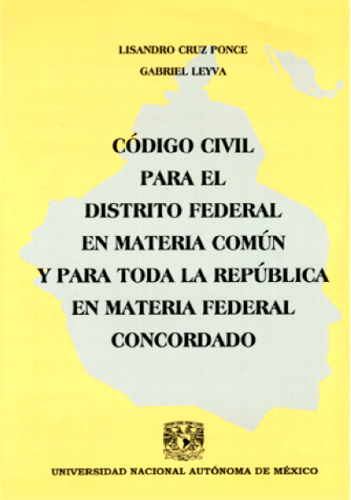 Código Civil para el Distrito Federal en Materia Común y para toda la República en Materia Federal. Concordado