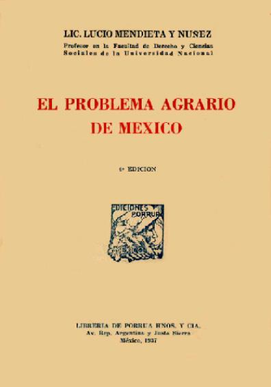 El problema agrario en México
