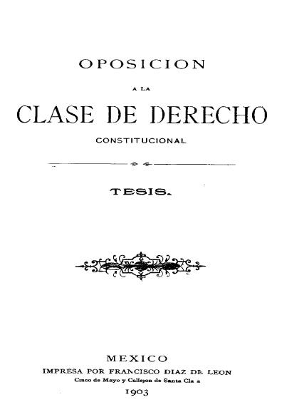 Oposición a la clase de derecho constitucional