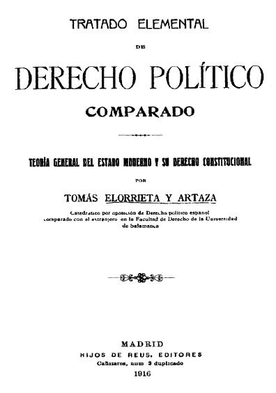 Tratado elemental de derecho político comparado