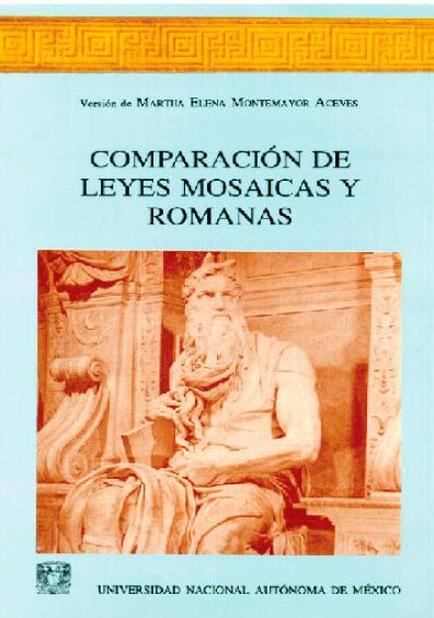 Comparación de leyes mosaicas y romanas