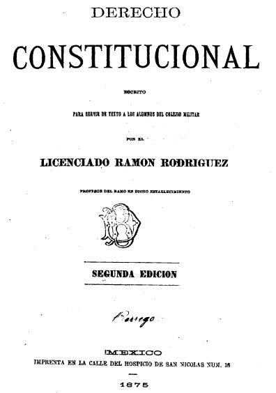 Derecho constitucional, 2a. ed.