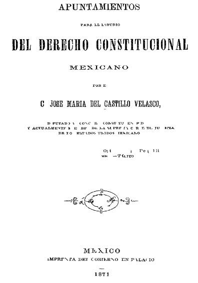 Apuntamientos para el estudio del derecho constitucional mexicano, 2a. ed. corregida