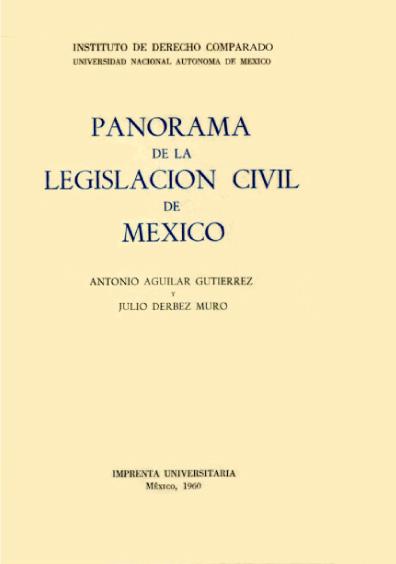 Panorama de la legislación civil en México