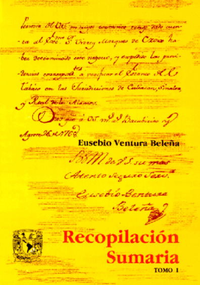 Recopilación sumaria de todos los autos acordados de la Real Audiencia y Sala del Crimen de esta Nueva España, t. I