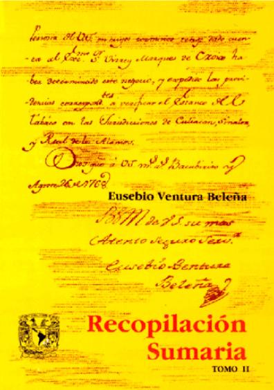 Recopilación sumaria de todos los autos acordados de la Real Audiencia y Sala del Crimen de esta Nueva España, t. II