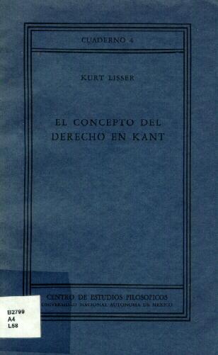 El concepto del derecho en Kant