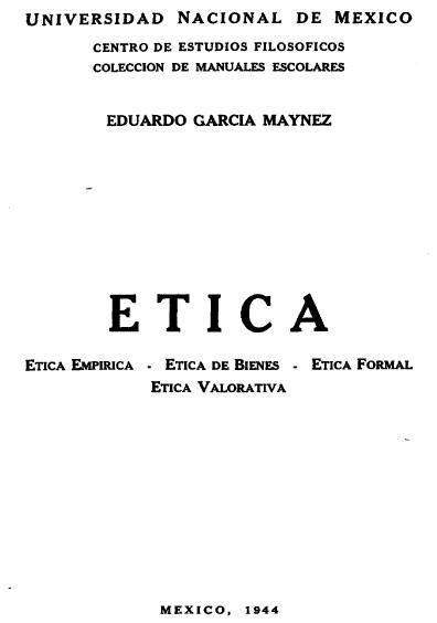 Ética, ética empírica, ética de bienes