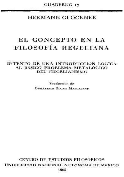 El concepto en la filosofía hegeliana