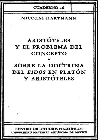 Aristóteles y el problema del concepto