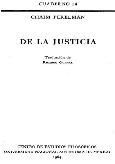 De la justicia