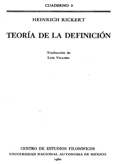 Teoría de la definición