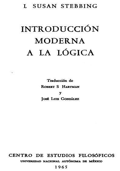 Introducción moderna a la lógica
