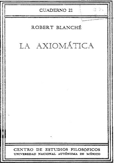 La axiomática