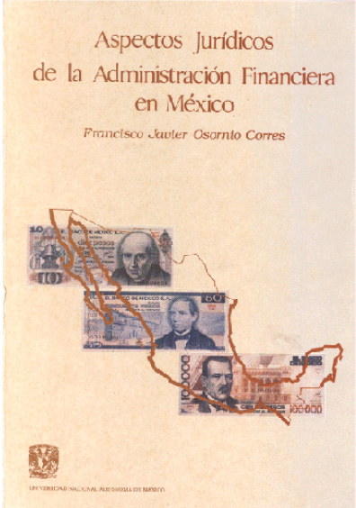 Aspectos jurídicos de la administración financiera en México