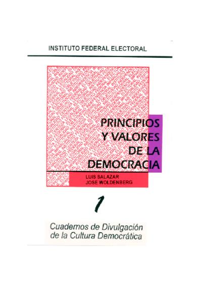 Principios y valores de la democracia
