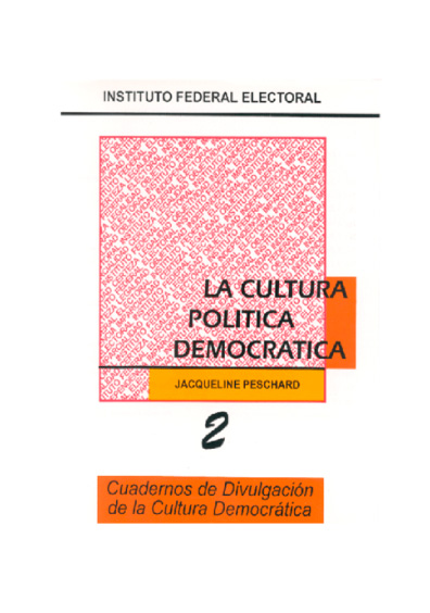 La cultura política democrática