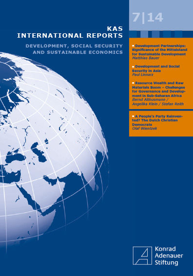 KAS International Reports 7/14. Development, Social Security and Sustainable Economics