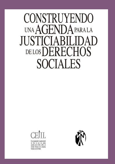 Construyendo una agenda para la justiciabilidad de los Derechos Sociales. Centro por la Justicia y el Derecho Internacional.