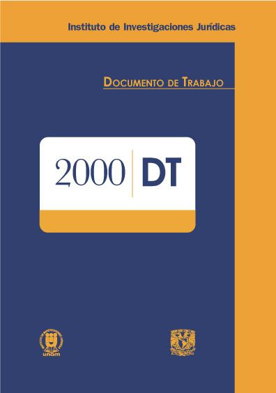 Documentos de trabajo del Instituto de Investigaciones Jurídicas. 2000