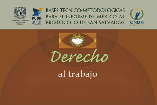 Bases técnico-metodológicas para el informe de México al protocolo de San Salvador. Derecho al trabajo. Colección de la CNDH