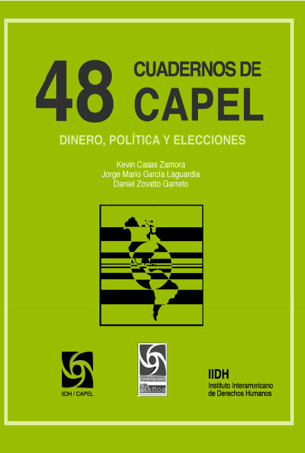 Dinero, política y elecciones. Cuadernos de CAPEL 48. Colección CAPEL