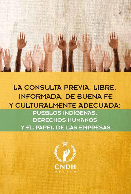 La consulta previa, libre, informada, de buena fe y culturalmente adecuada: pueblos indígenas, derechos humanos y el papel de las empresas. Colección CNDH