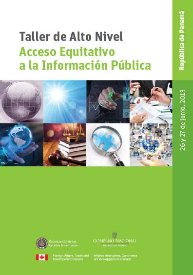 Taller de Alto Nivel Acceso Equitativo a la Información Pública, República de Panamá