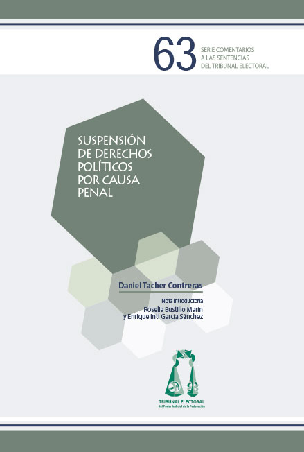 Suspensión de derechos políticos por causa penal. Colección TEPJF