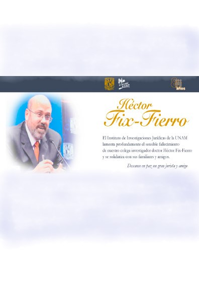 <i><b>Homenaje póstumo a Héctor Fix-Fierro</b></i>