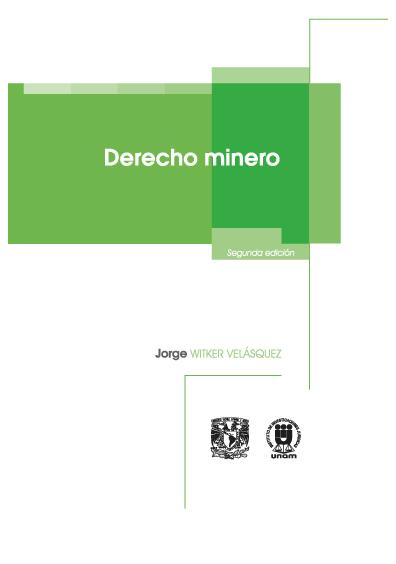 Derecho minero, segunda edición