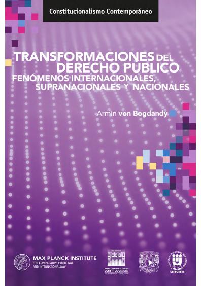 Transformaciones del derecho público. Fenómenos internacionales, supranacionales y nacionales. Colección IECEQ