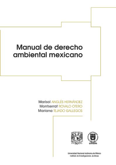 Manual de derecho ambiental mexicano