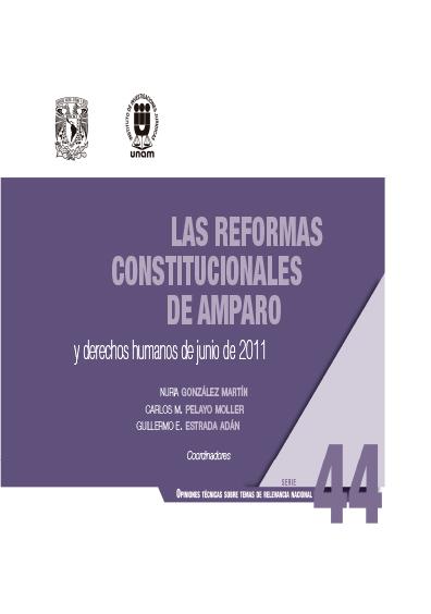 Las reformas constitucionales de amparo y derechos humanos de junio de 2011. Serie Opiniones Técnicas sobre Temas de Relevancia Nacional, núm. 44