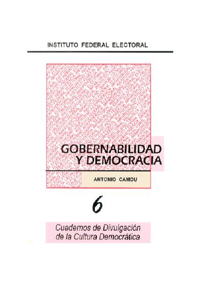 Gobernabilidad y democracia