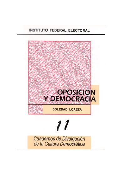 Oposición y democracia