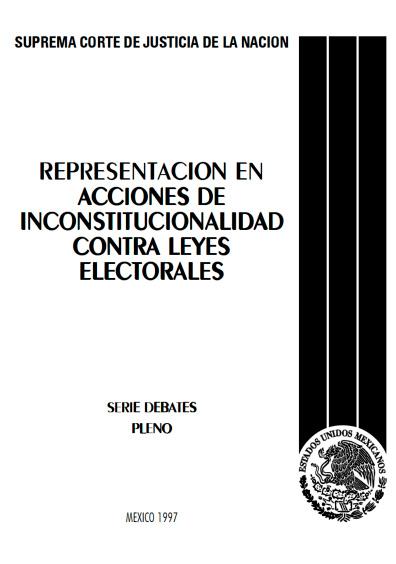 Representación en acciones de inconstitucionalidad contra leyes electorales