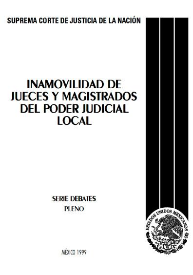 Inamovilidad de jueces y magistrados del poder judicial local