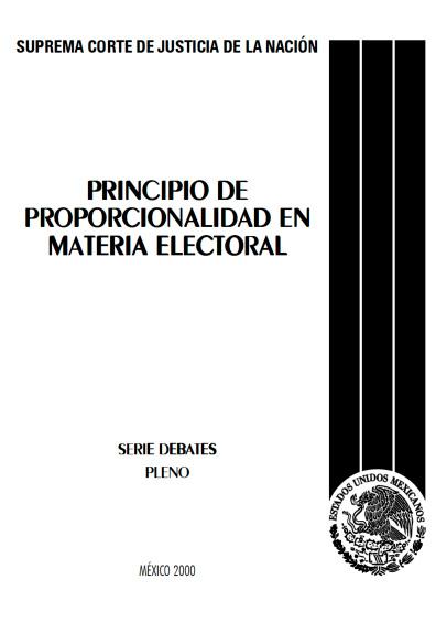 Principio de proporcionalidad en materia electoral
