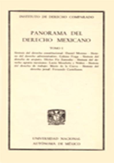Panorama del derecho mexicano, t. I
