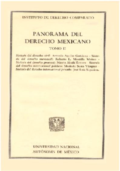 Panorama del derecho mexicano, t. II