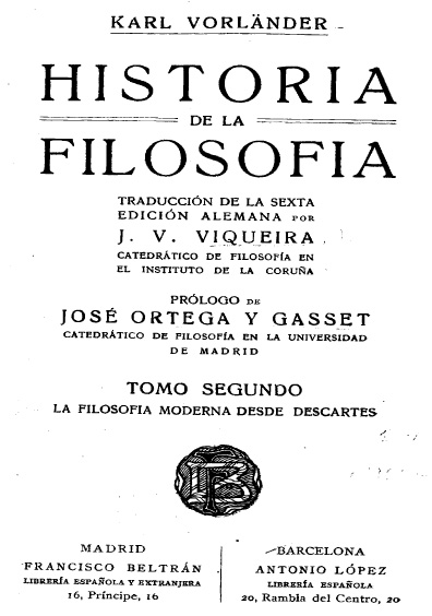 Historia de la filosofía, t. II