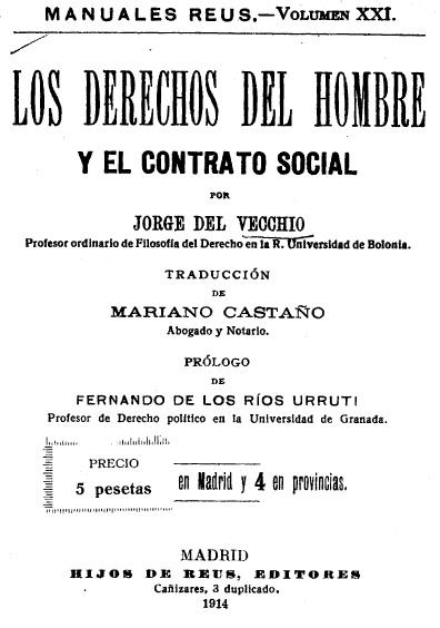 Los derechos del hombre y el contrato social
