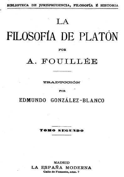 La filosofía de Platón, t. II