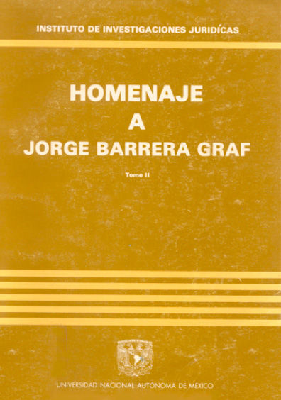 Estudios en homenaje a Jorge Barrera Graf, t. II
