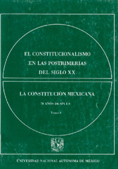 El constitucionalismo en las postrimerías del siglo XX, t. V